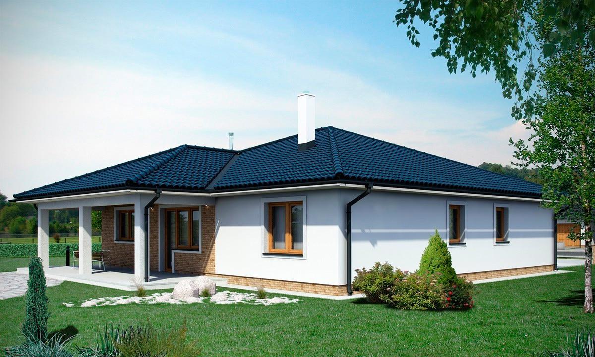 Проект одноэтажного дома c террасой «КО-154» - фото №2