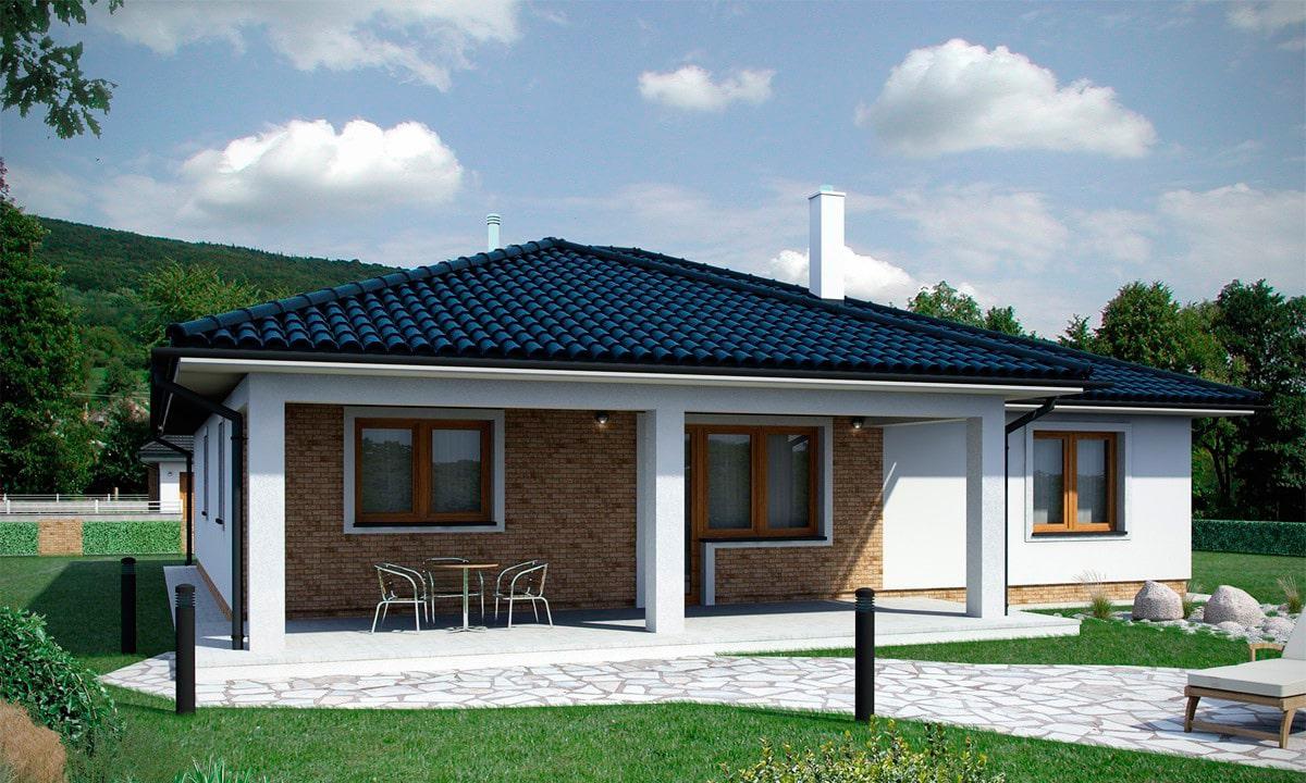 Проект одноэтажного дома c террасой «КО-154» - фото №3