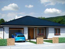 Проект одноэтажного дома c террасой «КО-154»
