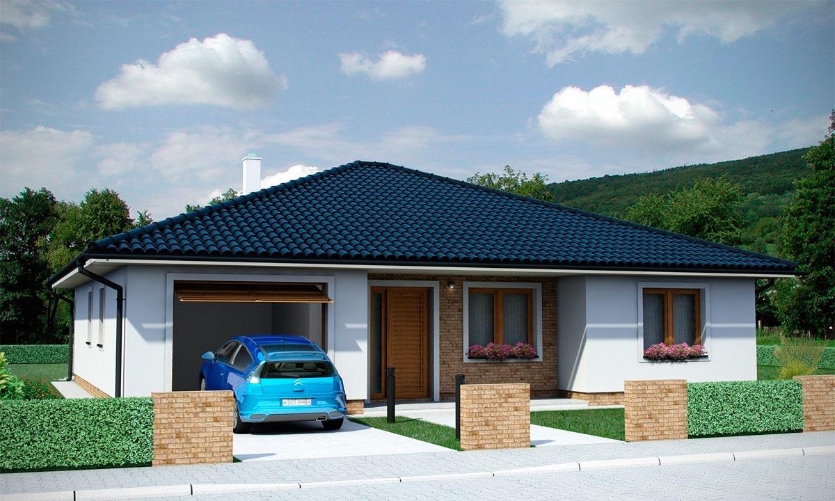 Проект одноэтажного дома c террасой «КО-154» - фото №1