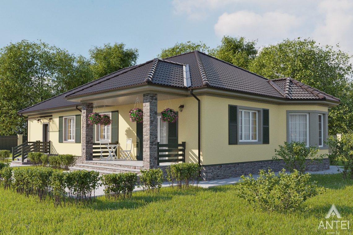 Дизайн фасадов дома в районе Красный Маяк, г. Гомель - вид слева