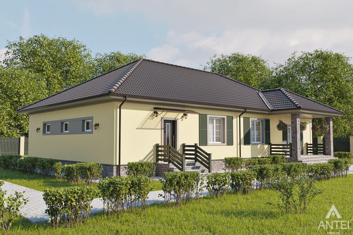 Дизайн фасадов дома в районе Красный Маяк, г. Гомель - вид справа