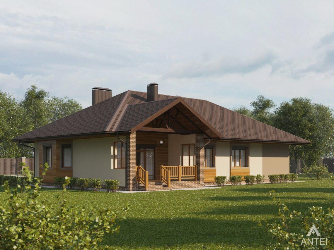 Дизайн фасадов дома в Гомельском районе - вид справа