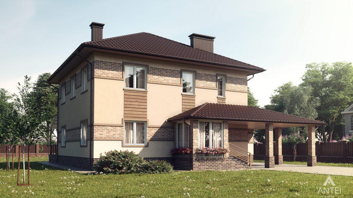Дизайн фасадов дома в Минском районе - вид сзади