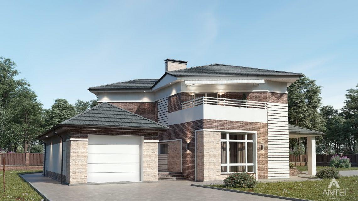 Дизайн фасадов дома в Гомельской области - вид спереди