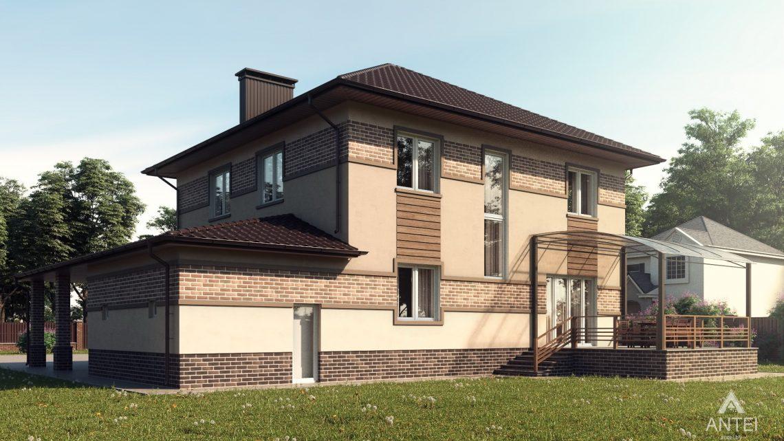 Дизайн фасадов дома в Минском районе - вид сбоку
