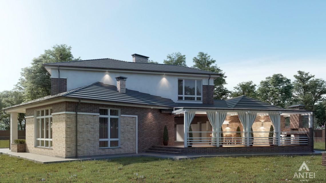 Дизайн фасадов дома в Гомельской области - вид сзади