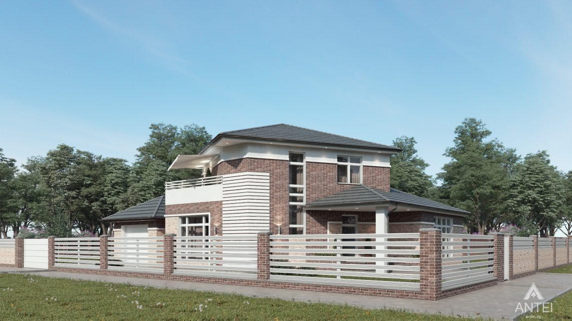 Дизайн фасадов дома в Гомельской области - вид справа