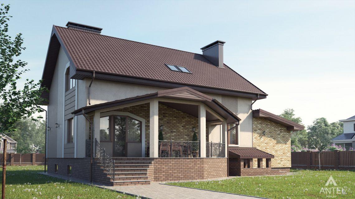 Дизайн фасадов дома в д. Дроздово, Минский р-н - вид сзади