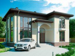Проект двухэтажного дома со вторым светом «КД-42»