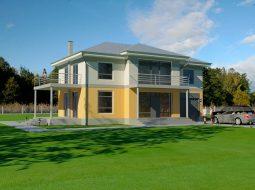 Проект двухэтажного дома с гаражом и террасой «КД-52»