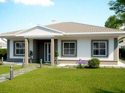 Проект одноэтажного дома c террасой «КО-157»