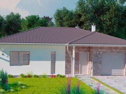 Проект одноэтажного дома c гаражом «КО-159»