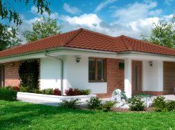 Проект одноэтажного дома c гаражом и террасой «КО-162»