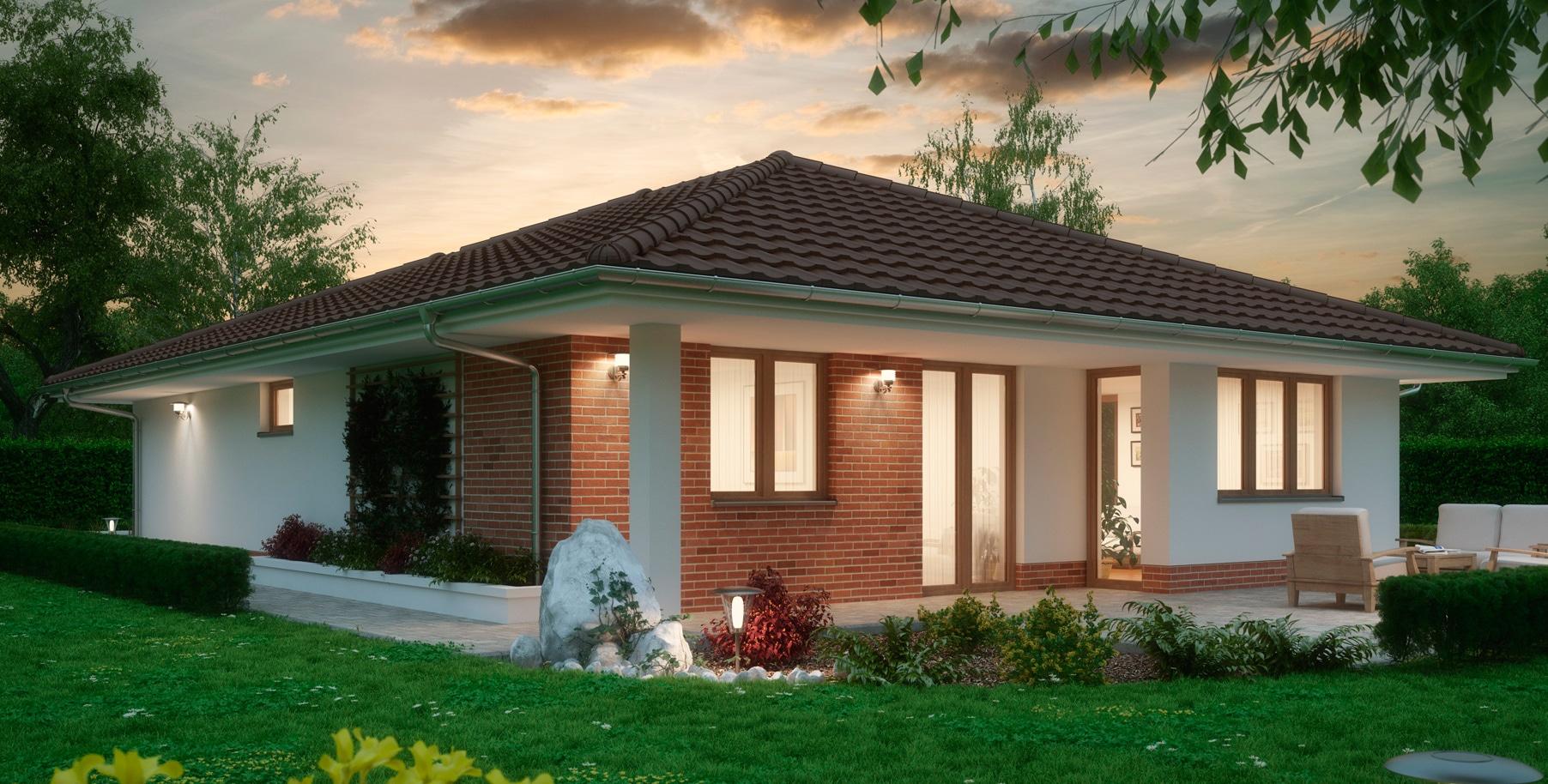 Проект одноэтажного дома c гаражом и террасой «КО-162» - фото №3
