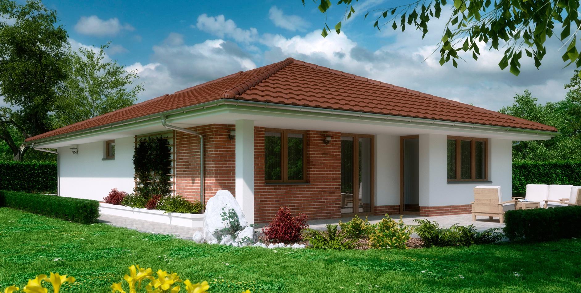 Проект одноэтажного дома c гаражом и террасой «КО-162» - фото №2