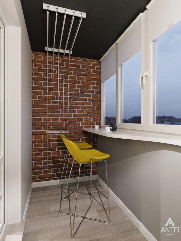 Дизайн интерьера квартиры в Гомеле, Иногородняя 8-я - балкон фото №2