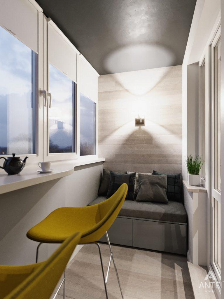 Дизайн интерьера квартиры в Гомеле, Иногородняя 8-я - балкон фото №1