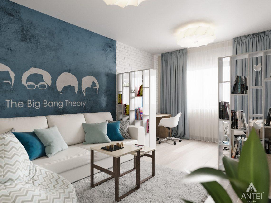 Дизайн интерьера квартиры в Гомеле, Иногородняя 8-я - гостиная фото №3