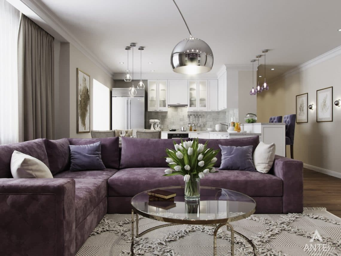 Дизайн интерьера квартиры в Гомеле - гостиная фото №1