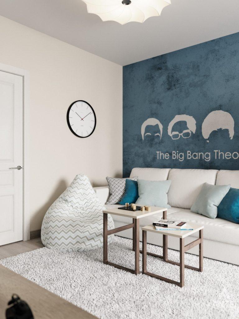 Дизайн интерьера квартиры в Гомеле, Иногородняя 8-я - гостиная фото №1