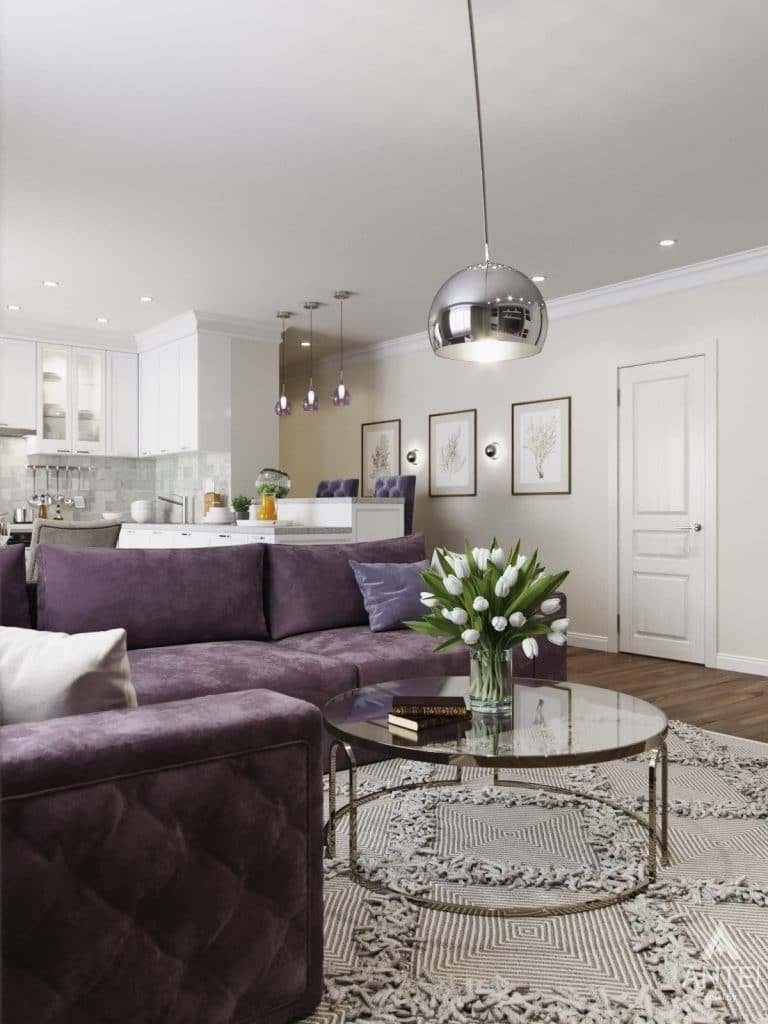 Дизайн интерьера квартиры в Гомеле - гостиная фото №2