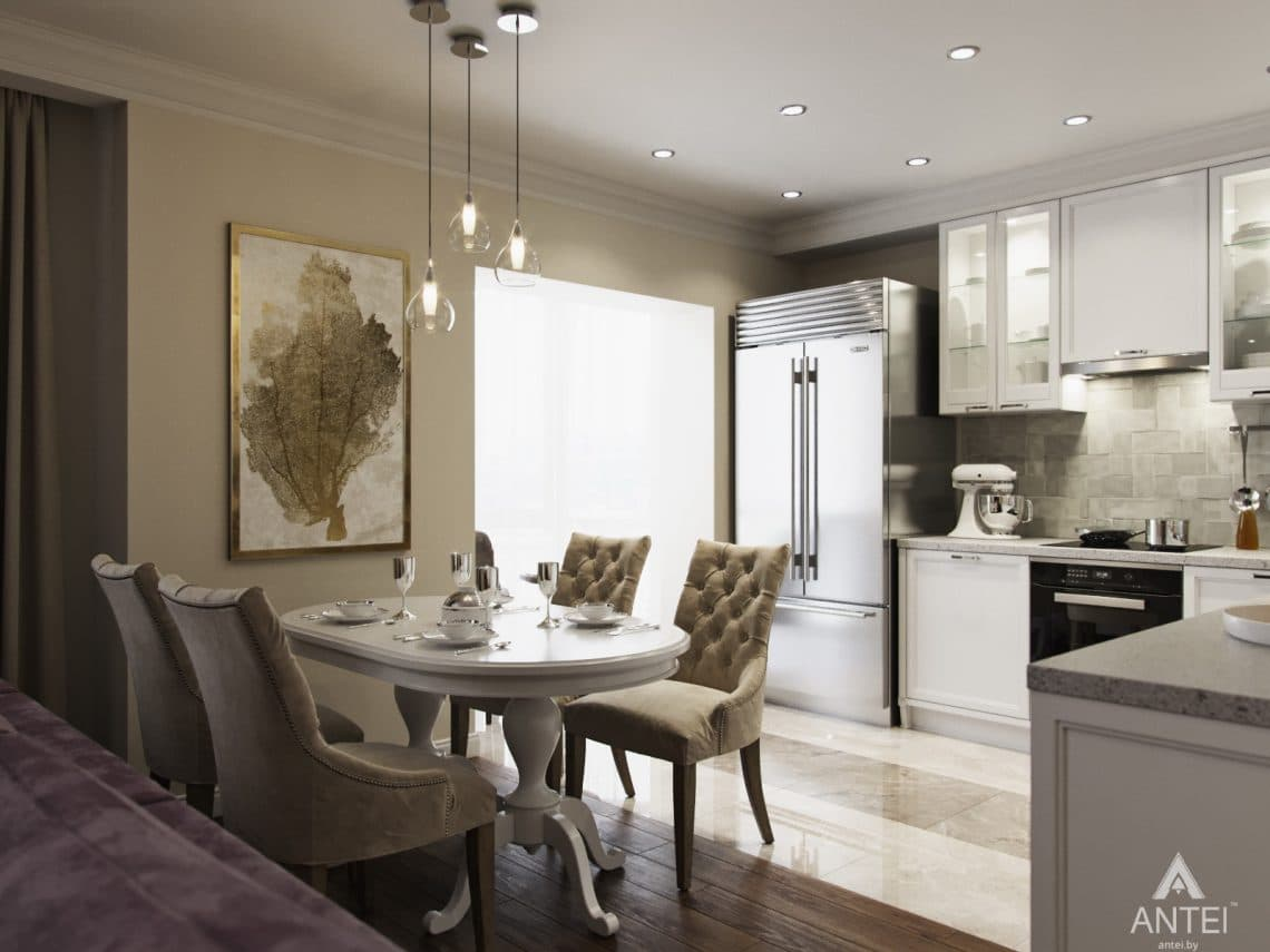 Дизайн интерьера квартиры в Гомеле - кухня фото №4