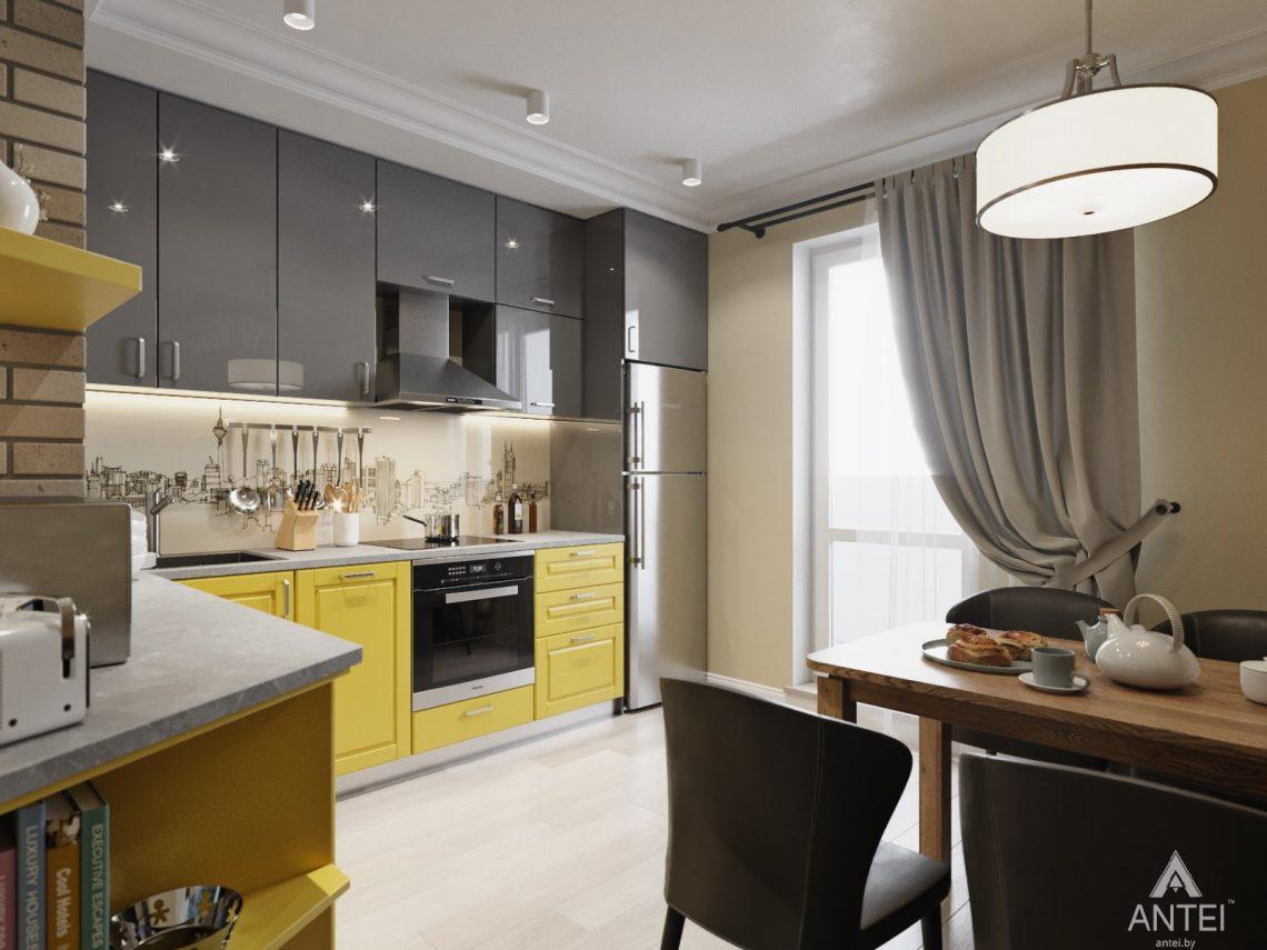 Дизайн интерьера квартиры в Гомеле, Иногородняя 8-я - кухня фото №2