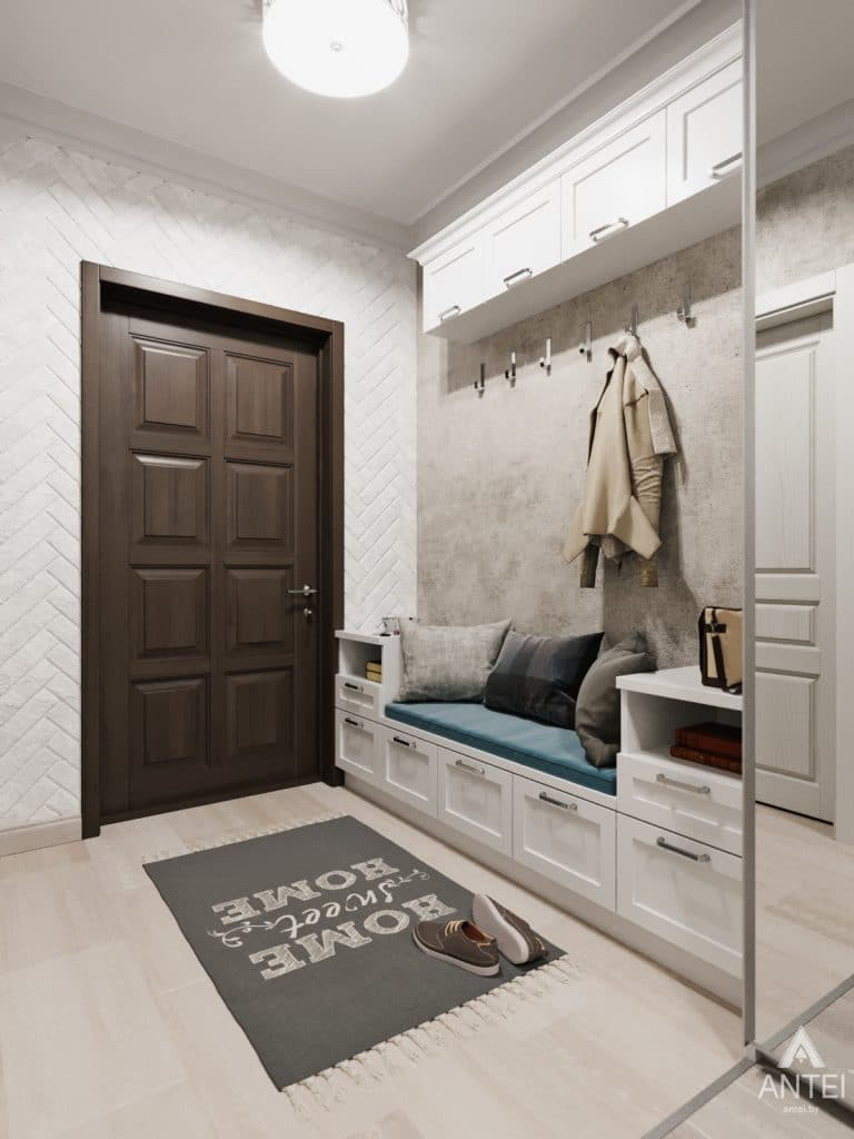 Дизайн интерьера квартиры в Гомеле, Иногородняя 8-я - прихожая фото №4