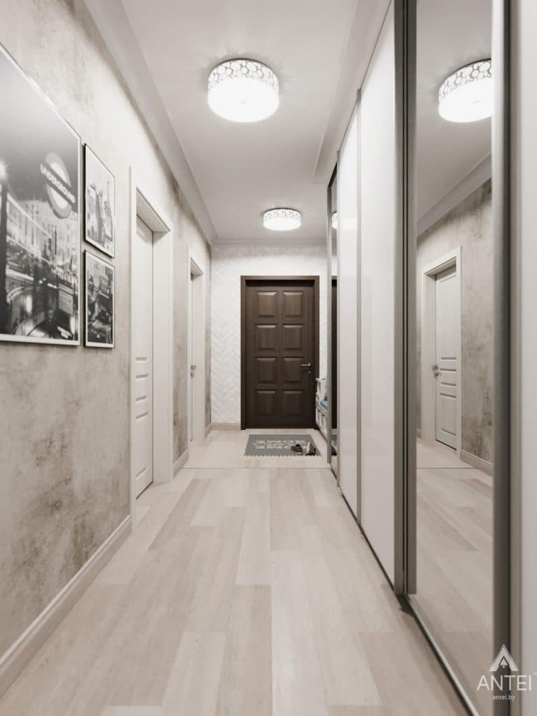 Дизайн интерьера квартиры в Гомеле, Иногородняя 8-я - прихожая фото №2