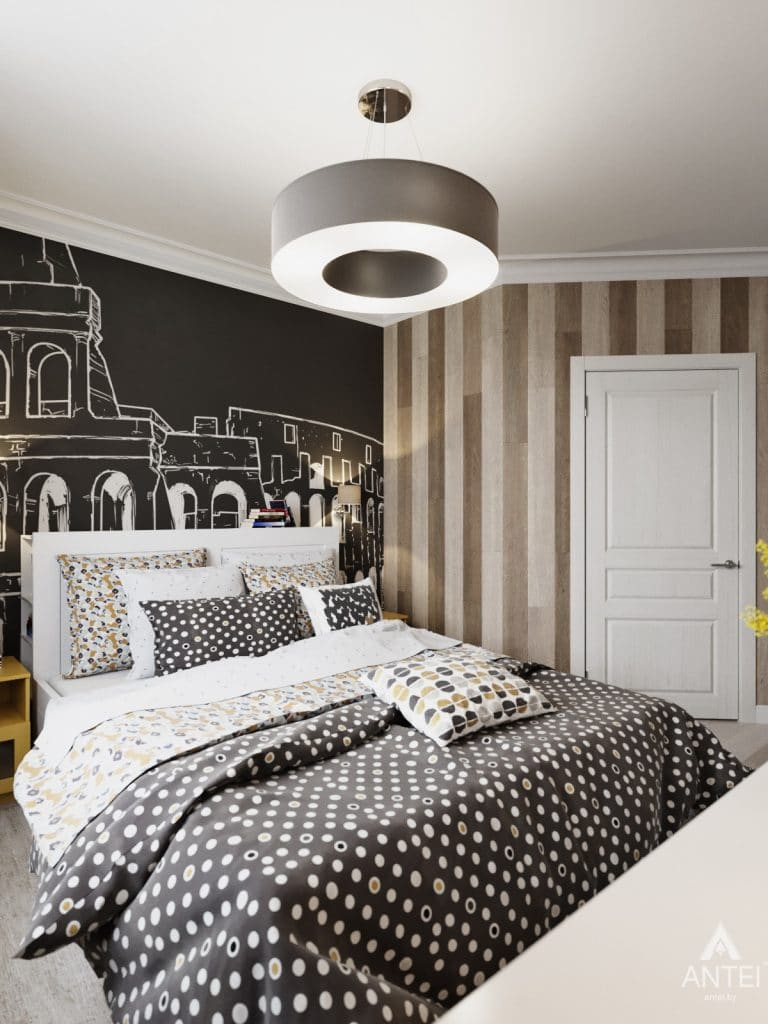 Дизайн интерьера квартиры в Гомеле, Иногородняя 8-я - спальня фото №1