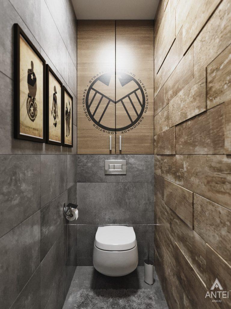 Дизайн интерьера квартиры в Гомеле, Иногородняя 8-я - туалет фото №1