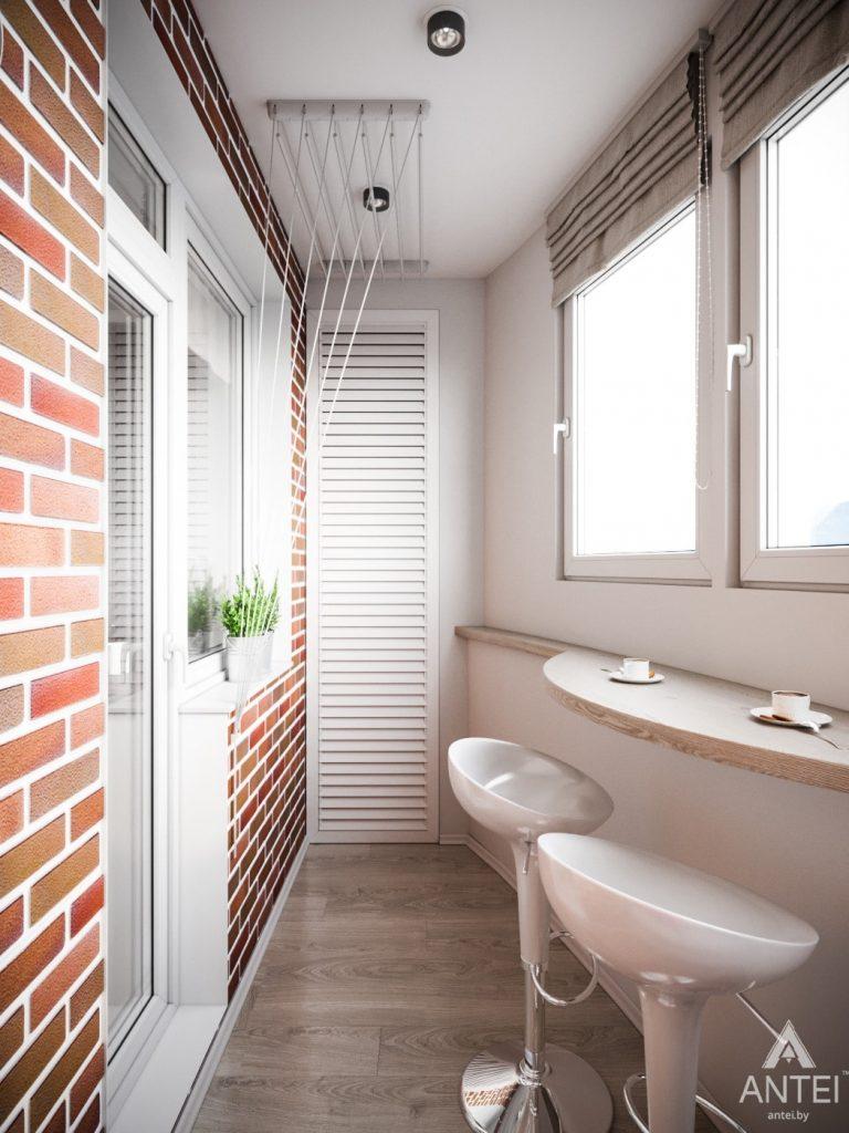 Дизайн интерьера однокомнатной квартиры в Минске - Балкон фото №2