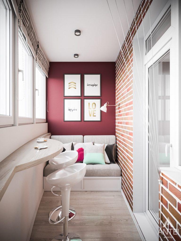 Дизайн интерьера однокомнатной квартиры в Минске - Балкон фото №1