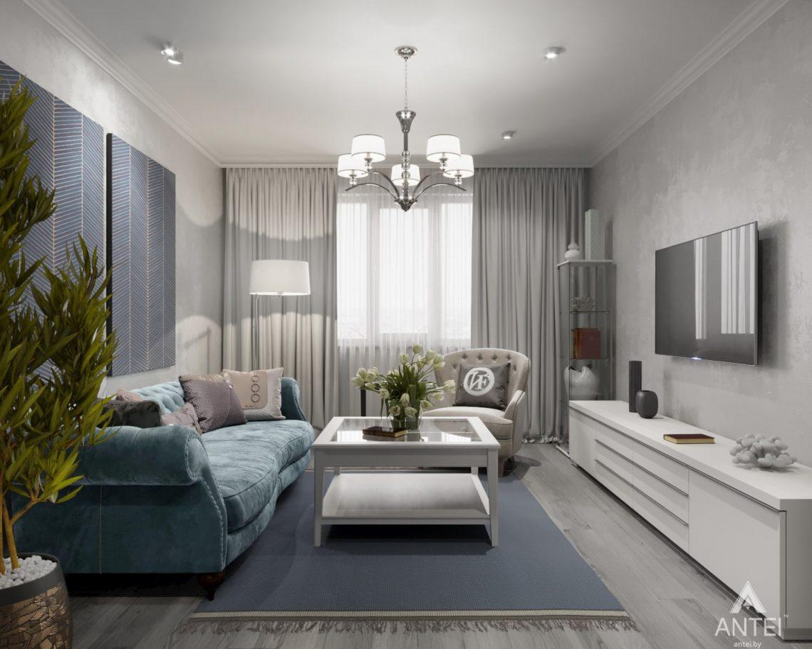 Дизайн интерьера квартиры в Гомеле, ул. Жемчужная - гостиная фото №1