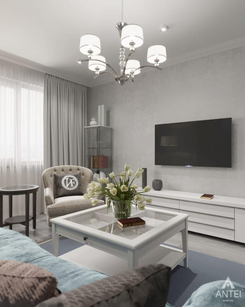 Дизайн интерьера квартиры в Гомеле, ул. Жемчужная - гостиная фото №3