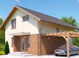 Проект мансардного дома с тремя спальнями «КМ-123»