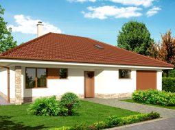 Проект мансардного дома с гаражом и террасой «КМ-126»