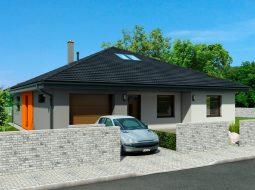 Проект мансардного дома с гаражом и террасой «КМ-127»
