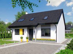 Проект современного мансардного дома «КМ-129»