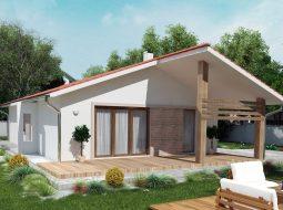 Проект одноэтажного дома c террасой «КО-138»