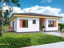 Проект одноэтажного дома c террасой «КО-142»