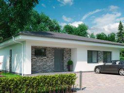 Проект одноэтажного дома c террасой «КО-155»
