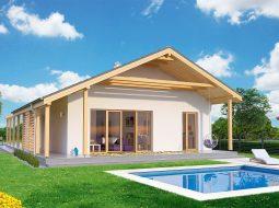 Проект одноэтажного дома c террасой «КО-158»