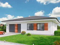 Проект одноэтажного дома c гаражом и террасой «КО-165»