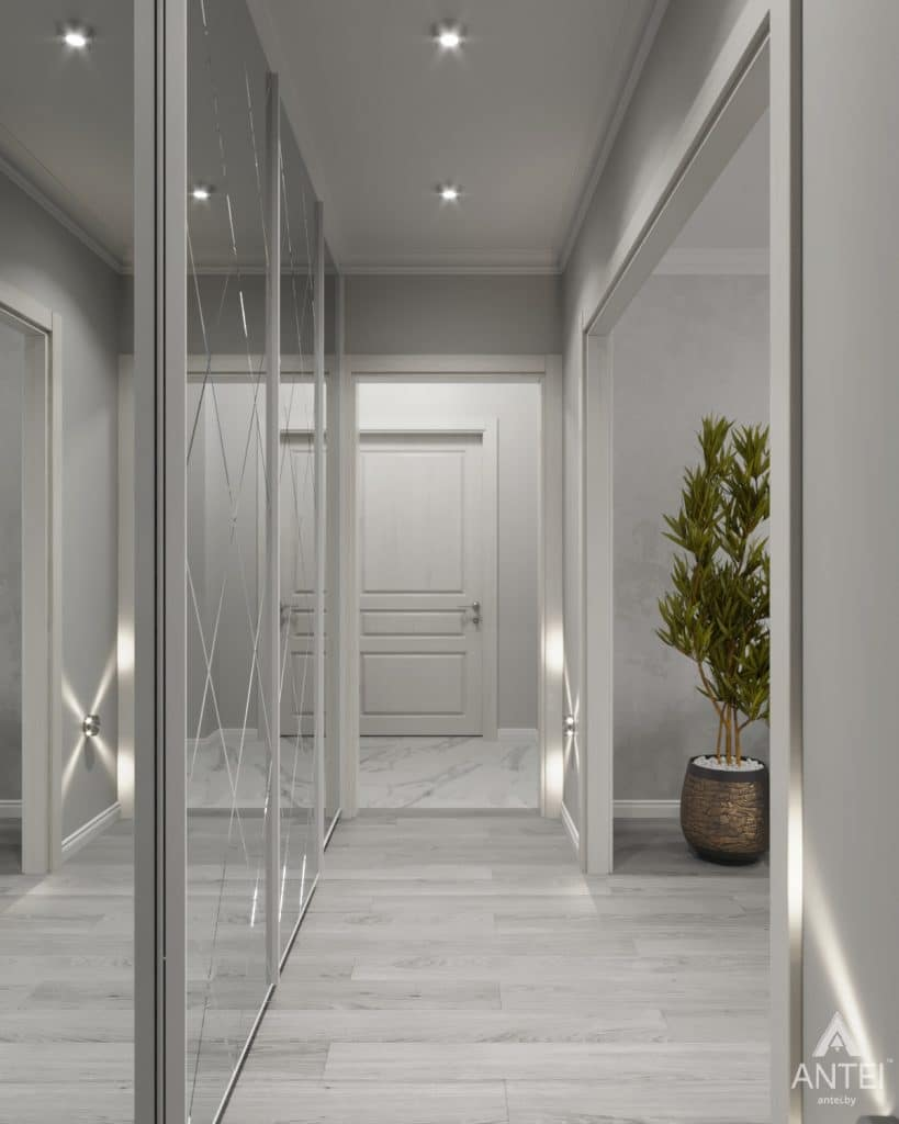 Дизайн интерьера квартиры в Гомеле, ул. Жемчужная - коридор фото №1