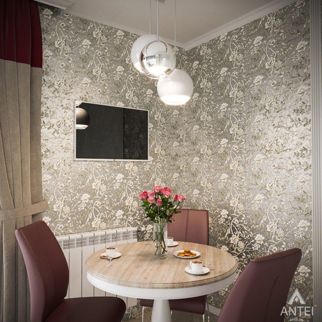 Дизайн интерьера однокомнатной квартиры в Минске - кухня фото №3