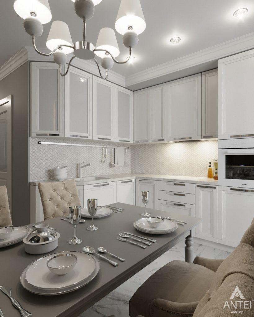 Дизайн интерьера квартиры в Гомеле, ул. Жемчужная - кухня фото №2