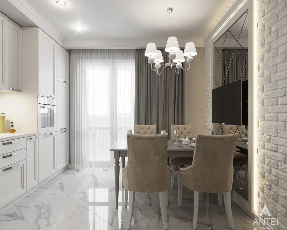 Дизайн интерьера квартиры в Гомеле, ул. Жемчужная - кухня фото №3