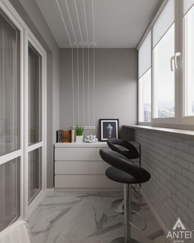 Дизайн интерьера квартиры в Гомеле, ул. Жемчужная - лоджия фото №2